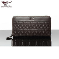 Casual Business Leather Men's zipper wallet