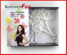 302254 18pcs dandelion-shaped art wall decorate flutter