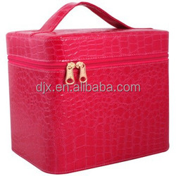 hot selling red color cosmetic bag in bulks pu leather