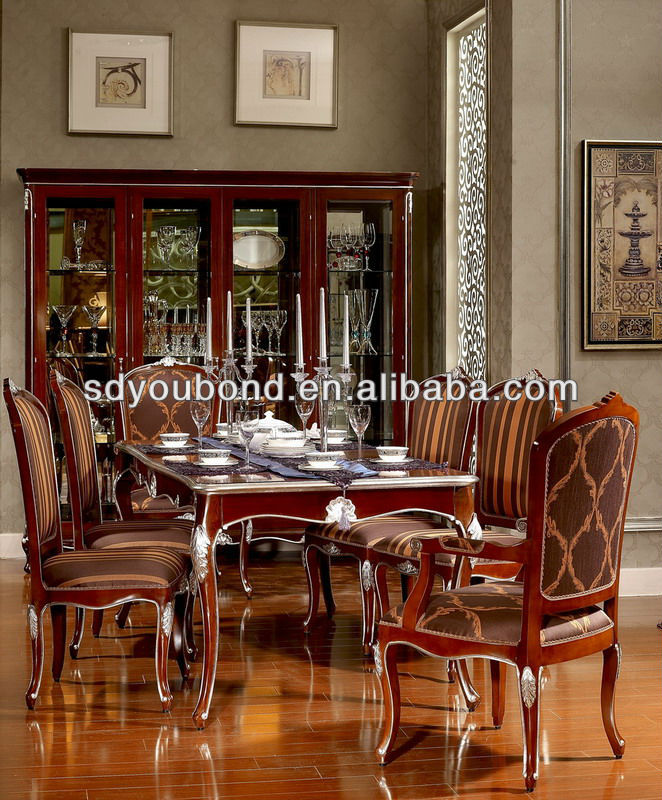 good quality dining room set wooden long dinning table and chair