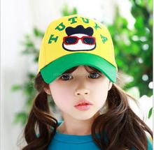 MZ2562 Spring Children Baseball Hats Boys Girls Letters glasses Baseball Caps Kids Accessories 5 PC 2015