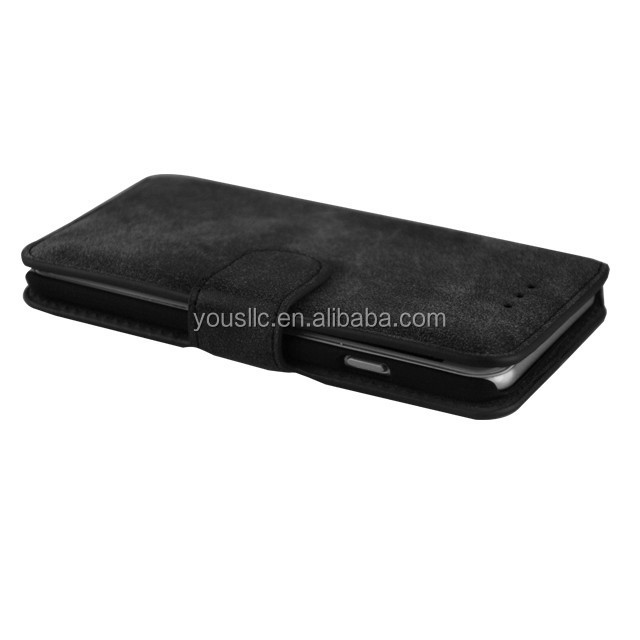 wholesale retro suede wallet leather case,leather case for Samsung Galaxy S6 G9200