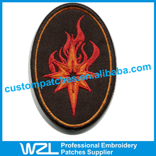 Slim blouse designs Fashion Embroidery name patches for sale