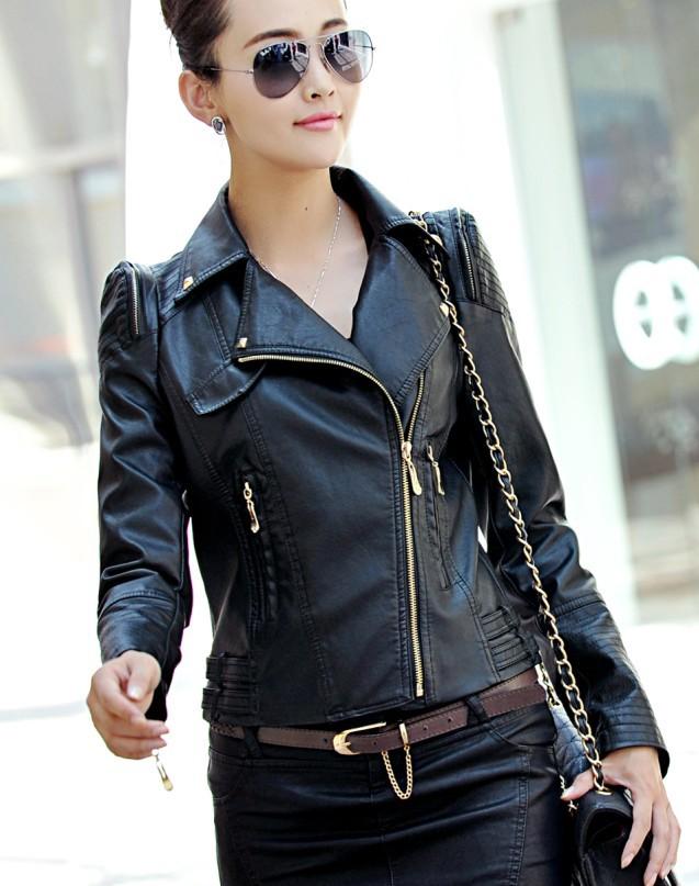 girls black faux leather jacket | Gommap Blog