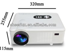 New LED Projector,Perfect 150W led lamp with 50000hrs brightness 3000Lumens,16:9 Native&4:3 Compatible(Switch freely)