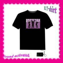 2015 hot sale new design LED sound actived T-shirts