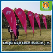 110g knitted Polyester Angled Beach Flag
