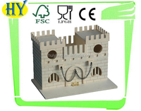 cheap unfinished wooden craft castle