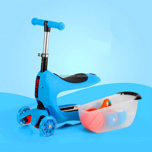 foldable kick scooter for children / 3 wheels folding pedal kids scooter for sale/ 2015 hot selling child slide scooter