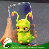 custom printed logo preferential price shockproof crown pig silicone case for iphone