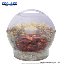 Wholesale Plastic Carry and Serve Bowl Round Clear Take Away Salad Bowl