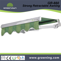 Greenawn motor control garden awning balcony awning with strong arm