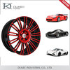 112MM Top quality custom made DK02-208501 hot selling 5 hole red car rims
