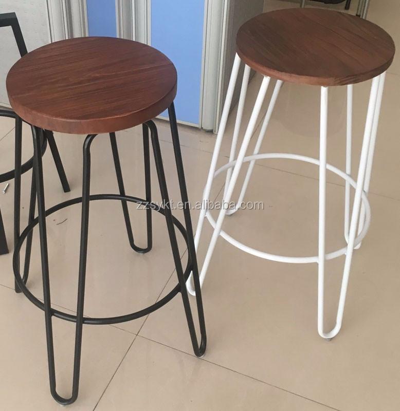 빈티지 금속 나무 머리핀 술집 카운터 바 의자 공급-기타 금속 ...