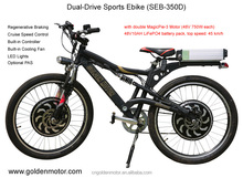 New Vector control fast dual drive programmable motor bike electric 1500w