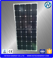Good quality monocrystalline 135w solar thermal panel with competitive price