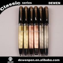 Dewen pen custom logo Promotional ballpoint roller pen ball pen blank wholesale