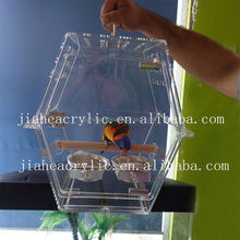 wholesale handmade acrylic clear bird breeding cages perspex display cage for birds parrot