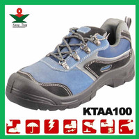 Genuine Suede Leather blue hammer safety shoes