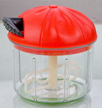 2015 hand held food chopper, vegetable slicer, twist chopper with three blades