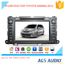 car dvd player with gps navigation system/bluetooth/TV/radio function for TOYOTA SIENNA 2012