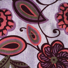 100% Polyester woven printed and flocked sofa fabric/upholstery fabric