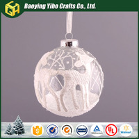 Fashional designed wholesale clear plastic ball christmas ornaments glass ball