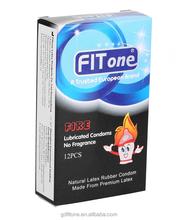FITone Latex Hot Fire Male Condom