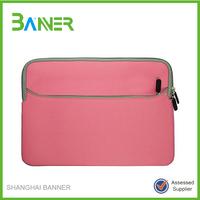 2015 High quality approved laptop sleeve 15.6 black neoprene