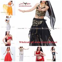 Indian Children belly dance costume set top and pant arabic dance costume for kids competition