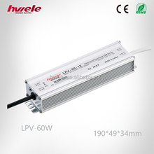 60W LED waterproof industrial power supply with CE ROHS KC certificate