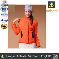 2015 New Style Customized Outdoor Sex Woman Down Clothing Made In China
