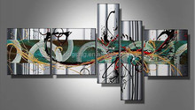 Newest Handmade 5pcs Group Oil Painting On Canvas For Decor