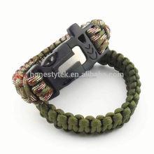 HT168 Climbing paracord whistle bracelet