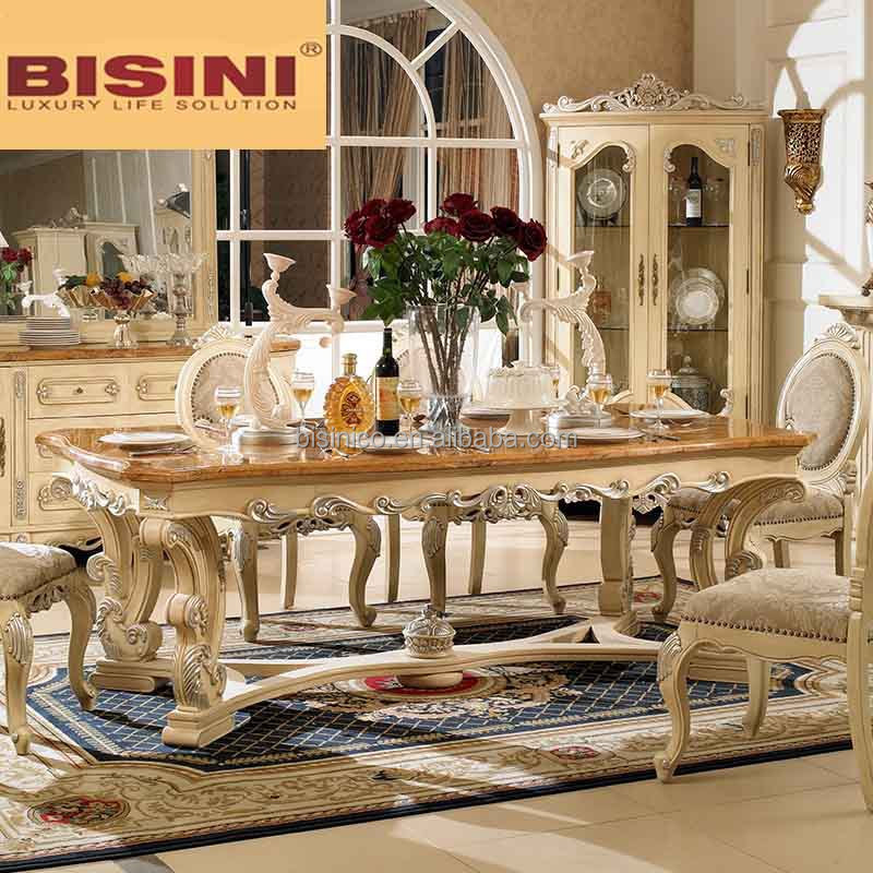 Bisini Wooden Top Long Dining Table 8 Seats 8 Seater