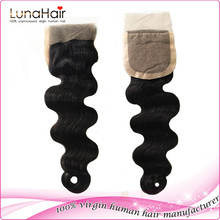 Grade 6A unprocessed virgin human hair lace frontal, Natural color middle part 3 way part brazilian silk base lace closure