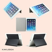 New arrive cute smart flip stand leather case for ipad air 5