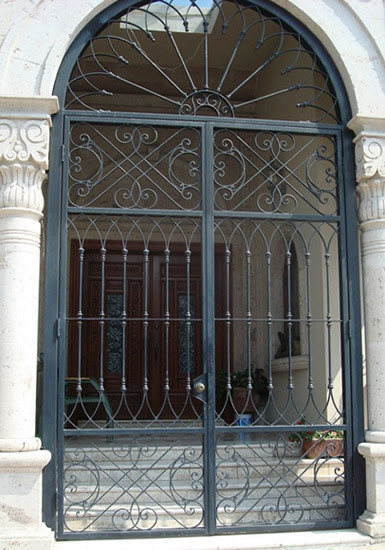 Genial Interesting Front Door Metal Gate Gallery Exterior Ideas 3D Gaml