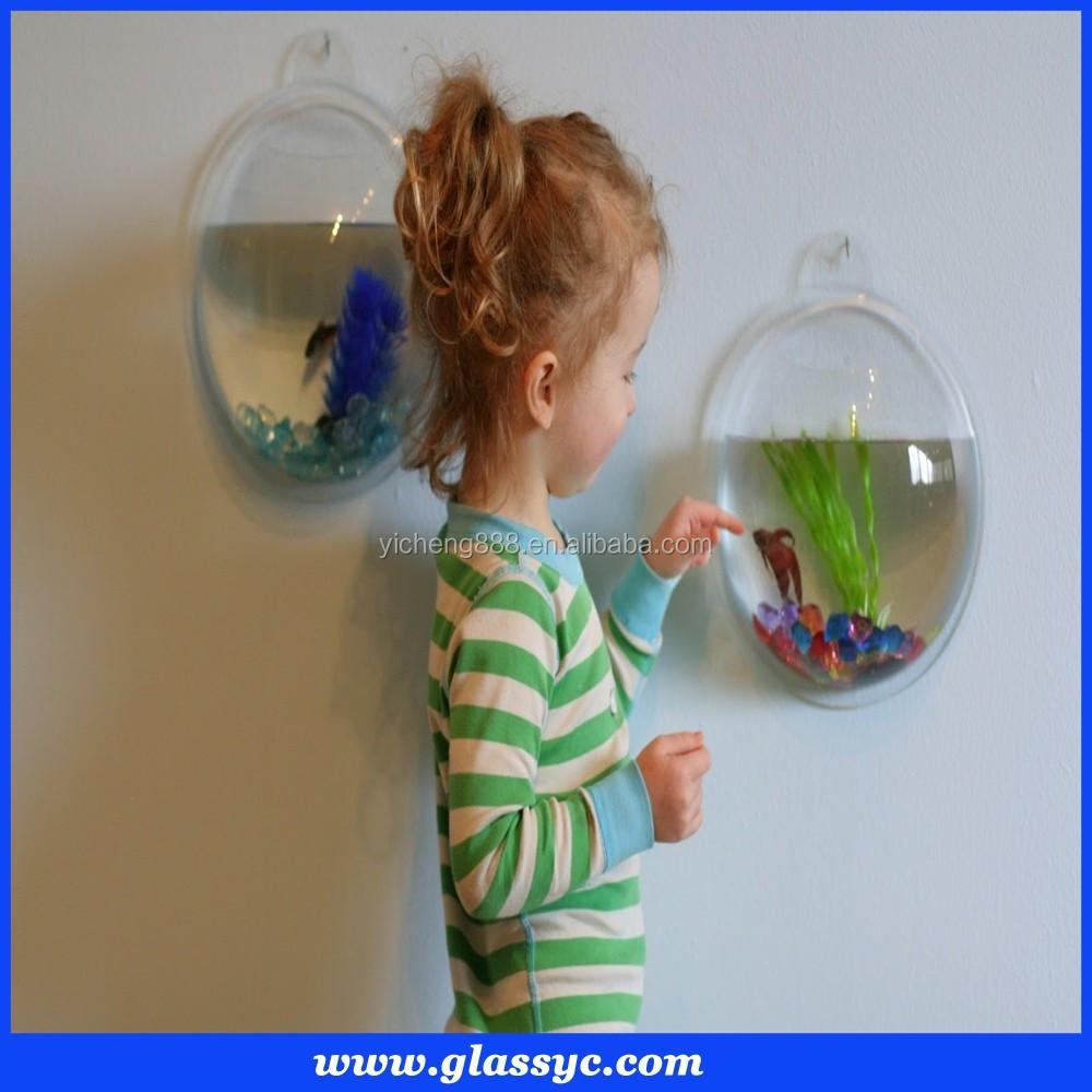 Top quality d coratif aquarium rond effacer mur mont for Aquarium rond prix