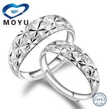 All size platium plated sterling silver spinner couple wedding /engagement ring offer engraved service