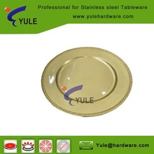 wholesale korean cheaper holiday charger plates for wedding dinner
