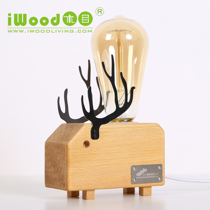 2015 Novelty Lighting Home Decorative Table Lamp Wood