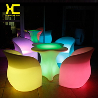 Remote Control Cordless Chargeable Lighted LED Bar Table Chair