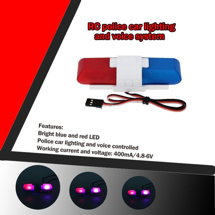 911013-Police Car Lighting and Voice System with 8 Kinds of Flashing Mode for RC Car-2.jpg