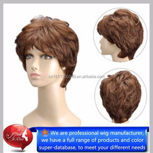Wholesale price kanekalon fiber short style customized black doll wigs