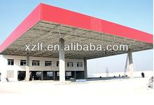 de acero para techos del metal de la estación de llenado/talleres de metal/angeles de la estación de de gaz de toit