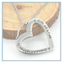 2015 Hot Sell Love letter Pendant with diamond necklace