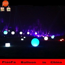 Inflatable helium light balloon for lawn decoration