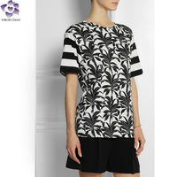 latest fashion long top design 2014 dongguan fashion clothes