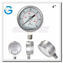 High quality bottom type 100mm Stainless Steel Pressure Gauge